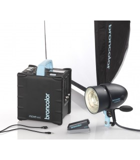 Move 1200 L Outdoor Kit 1 including: 1  Move 1200 L (incl. rechargeable battery) 1  MobiLED lamp 1  Softbox 60 x 60 (2 ft x 2