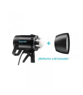 Lámpara LED broncolor LED F160 + L40 28.5 x Ø 12.0 cm Preorder incluye un reflector L40  *valido hasta el 31.12.2018