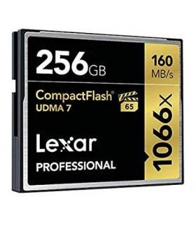 Tarjeta compact flash 256GB Lexar® Professional 1066x hasta 160MB/s de lectura y 155MB/s de escritura