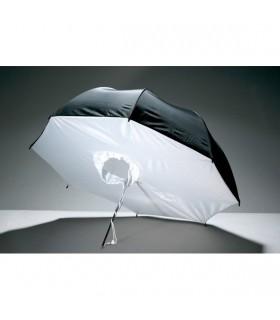 Paraguas blanco / plata indirecto con tela de 101 cm de diámetro.